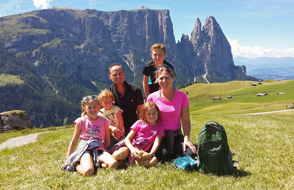 The Hofer family – Christoph, Marlene and our children Simon, the twins Jana and Marie, and Jasmin