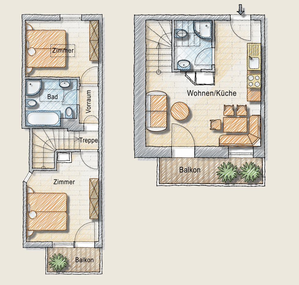 "Apartment ""Flieder"" Floor plan"
