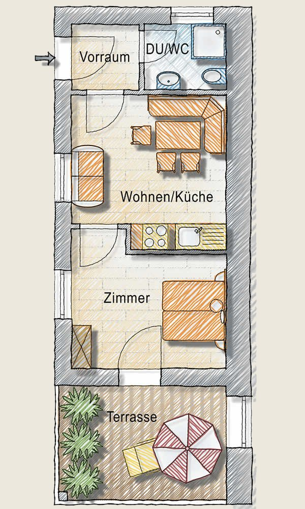 "Apartment ""Veilchen"" Floor plan"