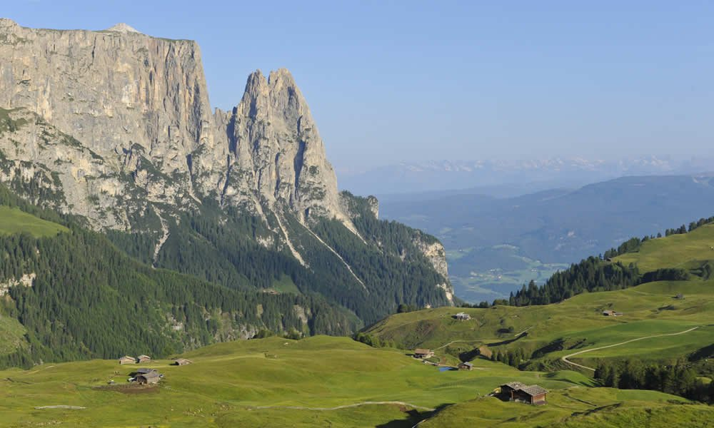 Holiday on the Seiser Alm in summer